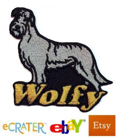 Custom Personalized Iron-on Patch - Irish Wolfhound