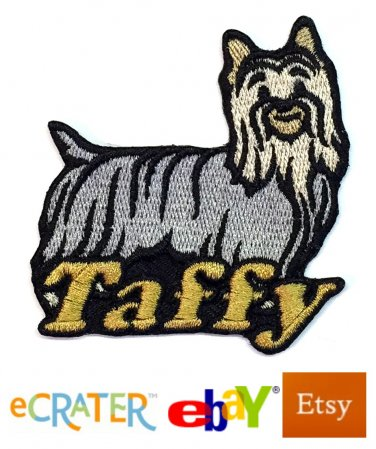 Custom Personalized Iron-on Patch - Silky Terrier