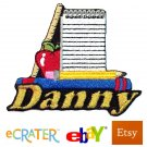 Custom Personalized Iron-on Patch - School Supplies
