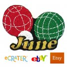 Custom Personalized Iron-on Patch - Bocce