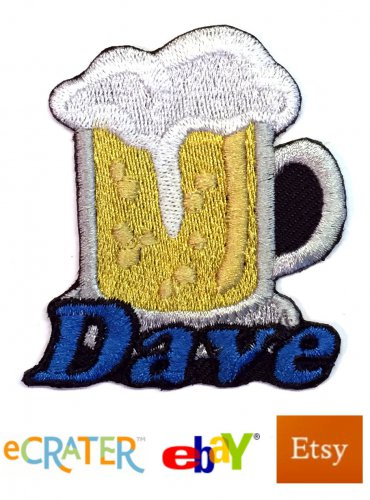 Custom Personalized Iron-on Patch - Beer