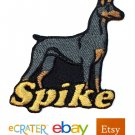 Custom Personalized Iron-on Patch - Doberman Pinscher