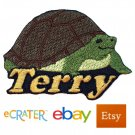 Custom Personalized Iron-on Patch - Tortoise