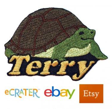 Custom Personalized Iron-on Patch - Tortoise