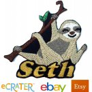 Custom Personalized Iron-on Patch - Sloth