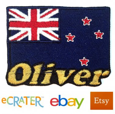 Custom Personalized Iron-on Patch - New Zealand Flag