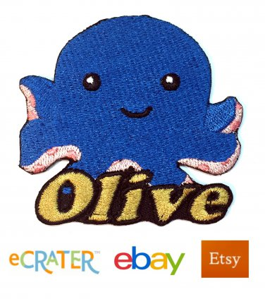 Custom Personalized Iron-on Patch - Octopus
