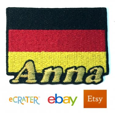 Custom Personalized Iron-on Patch - Germany Flag