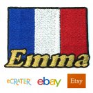 Custom Personalized Iron-on Patch - France Flag