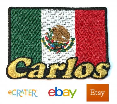 Custom Personalized Iron-on Patch - Mexico Flag