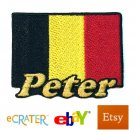 Custom Personalized Iron-on Patch - Belgium Flag