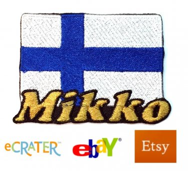 Custom Personalized Iron-on Patch - Finland Flag