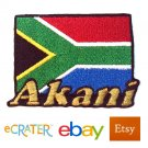 Custom Personalized Iron-on Patch - South Africa Flag
