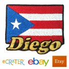 Custom Personalized Iron-on Patch - Puerto Rico Flag