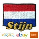Custom Personalized Iron-on Patch - Netherlands Flag