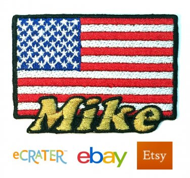 Custom Personalized Iron-on Patch - United States Flag