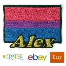Custom Personalized Iron-on Patch - Bisexual Pride Flag