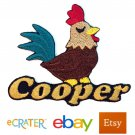 Custom Personalized Iron-on Patch - Rooster