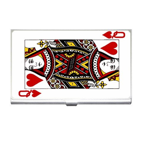 Queen of Hearts Business Card Holder Case Office Gift 17055933