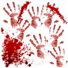 BLOODY HANDPRINTS Bathroom Shower Curtain