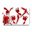 BLOODY FOOTPRINTS Bathmat , Doormat, Mats  #BSEC-CT