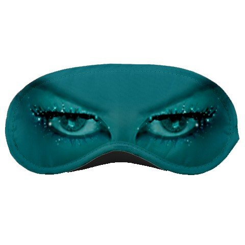 Teal Sparkle Eyes SLEEPING MASK Comfortable Polyester foam at BlueSkies  23043144