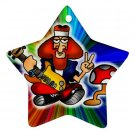Retro Hippie Design Porcelain Star Christmas Tree Ornament 16972273