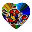 Retro Hippie Design Porcelain Heart Shape Christmas Tree Ornament 16972272 BSEC