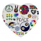 Retro Design Porcelain Heart Shape Christmas Tree Ornament 16972291 BSEC
