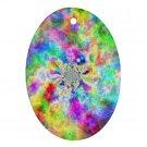 Retro Tie Dye Design Porcelain Oval Shape Christmas Tree Ornament 16972250 BSEC