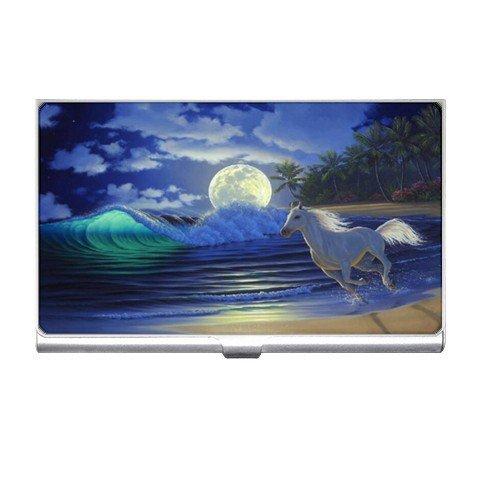 Horse on Beach  Business Card Holder Case Office Gift 17126562