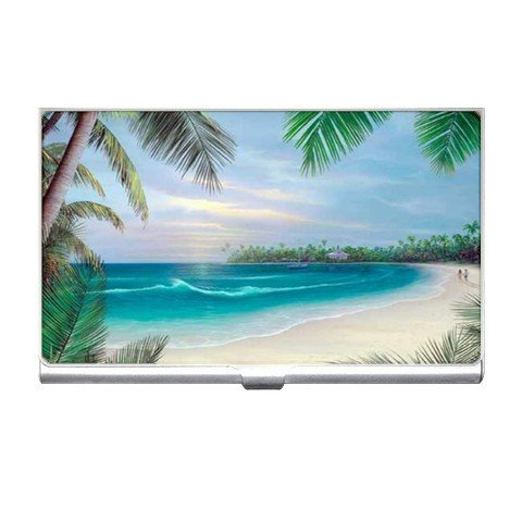 Tropical Beach Scene Business Card Holder Case Office Gift 17126789