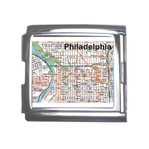 PHILADELPHIA Map Souvenir Italian Charm  Bracelet Single MEGA Charm Size 18mm 23653317
