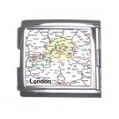 LONDON Map Souvenir Italian Charm  Bracelet Single MEGA Charm Size 18mm 23655219