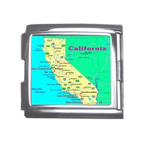 CALIFORNIA Map Souvenir Italian Charm Bracelet Single MEGA Charm Size 18mm 23655869