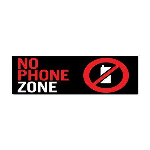 No Phone Zone Car Bumper Sticker - TEN Bumper Sticker 24848194