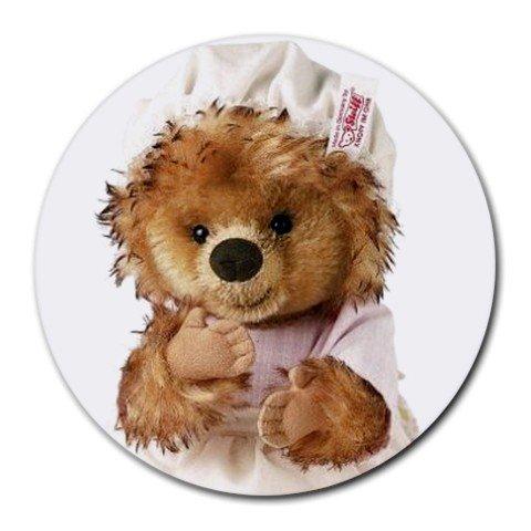 TEDDY BEAR IN NIGHT CAP Round Mousepad Office 15771822
