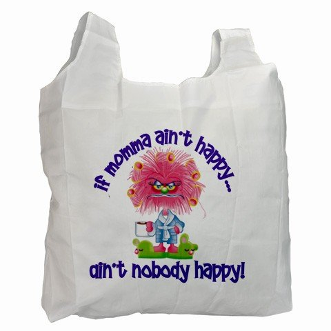 IF MAMA AINT HAPPY Polyester Recycle Green Tote Bag Grocery Bag Handbag 27028733