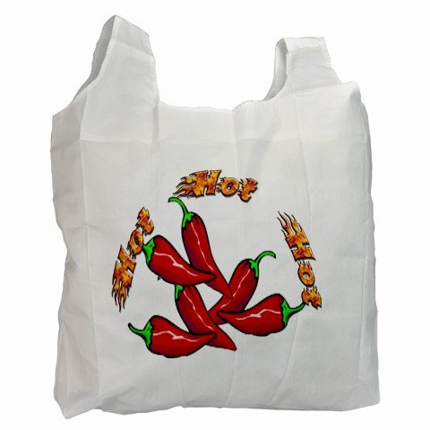 RED CHILI PEPPERS Polyester Recycle Green Tote Bag Grocery Bag Handbag 27028735