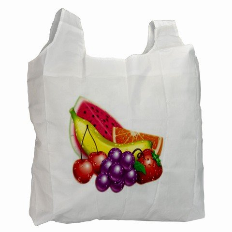 COLORFUL MIXED FRUIT Polyester Recycle Green Tote Bag Grocery Bag Handbag 27028742