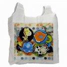 COLORFUL ART Polyester Recycle Green Tote Bag Grocery Bag Handbag 27028744
