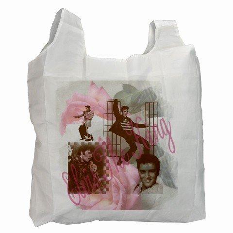 ELVIS PRESLEY Polyester Recycle Green Tote Bag Grocery Bag Handbag 27034099
