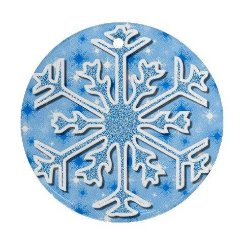 CHRISTMAS SNOWFLAKE Ornament Porcelain Round Shape Christmas Tree 27174985 BSEC