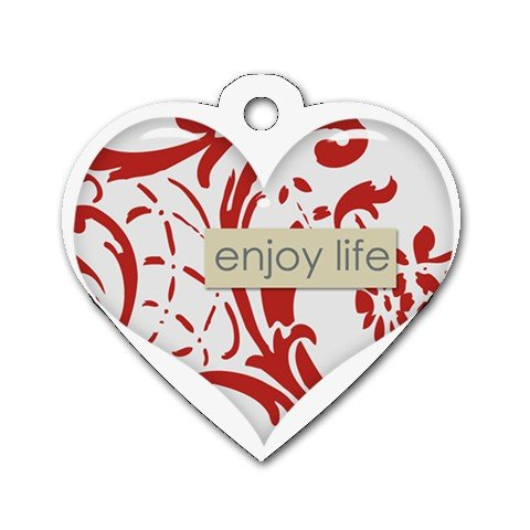 ENJOY LIFE Heart Shape Necklace Dog tag jewelry 27354520 BSEC