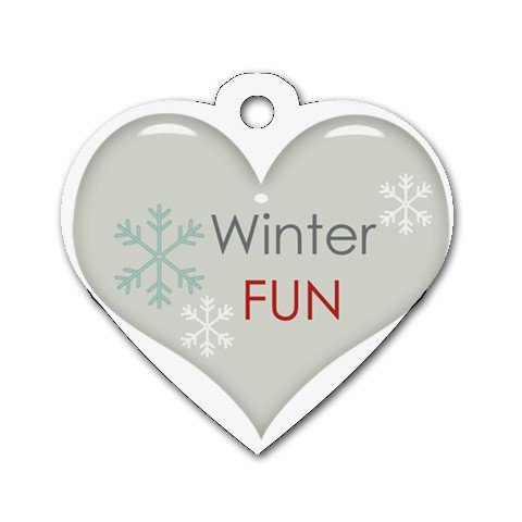 WINTER FUN Heart Shape Necklace Dog tag jewelry 27354521 BSEC