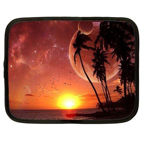 ORANGE MOON SCENE netbook laptop 15 inch case cover sleeve XXL 26754647 BSEC