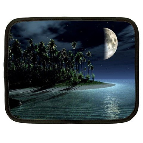 MOON BEACH SCENE netbook laptop 15 inch case cover sleeve XXL 26754670 BSEC