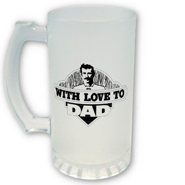 Fathers Day Gift FROSTED Mug Beer mug stein 16 oz
