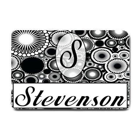 Custom Monogram Doormat, Mats Indoor Outdoor rugs Classic black and white #BSEC-CT