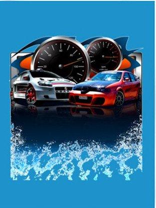 "VELVETEEN PLUSH FLEECE RACING CARS BLANKET 60""x50"" Twin or Full  #BSEC-CT"